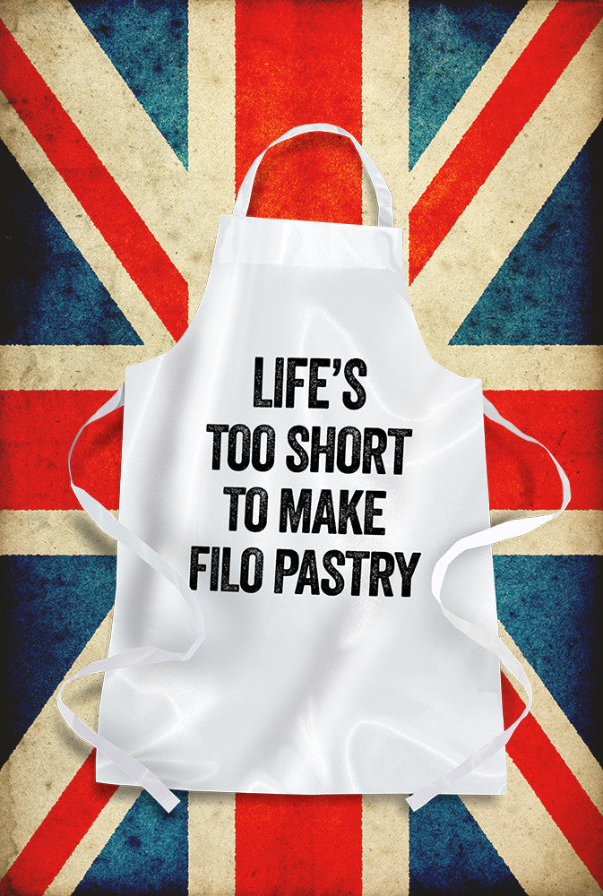 Life's Too Short For Filo Apron Custom T Shirt by Lets Get Shirty Dot Com