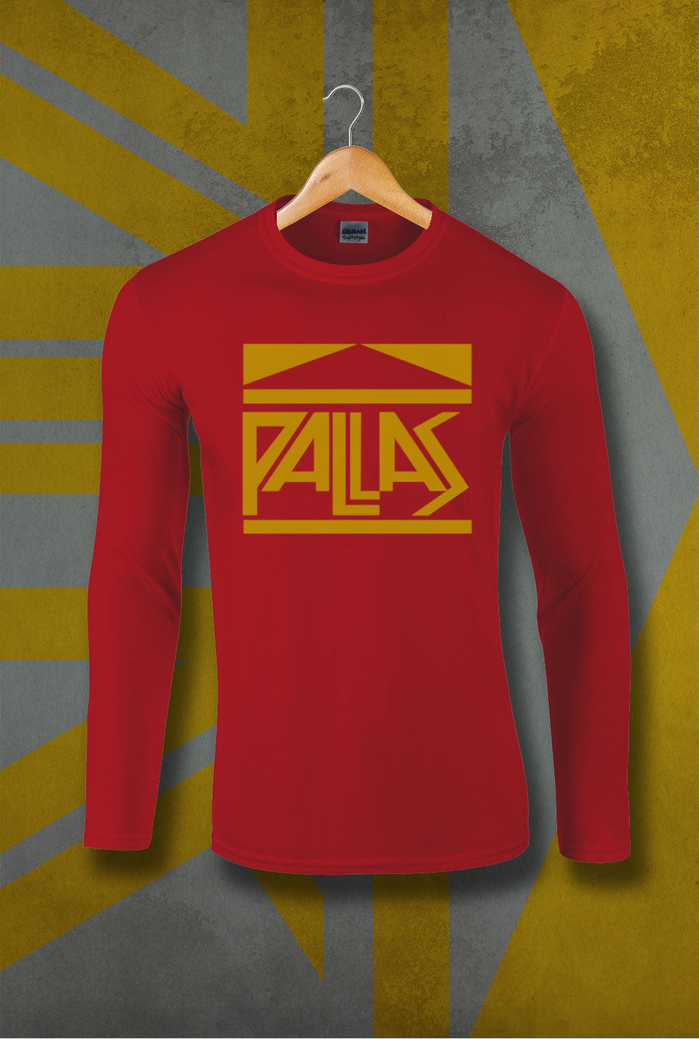 Pallas late 70's Logo Long Sleeve T-Shirt<p> In Black, Red and Navy