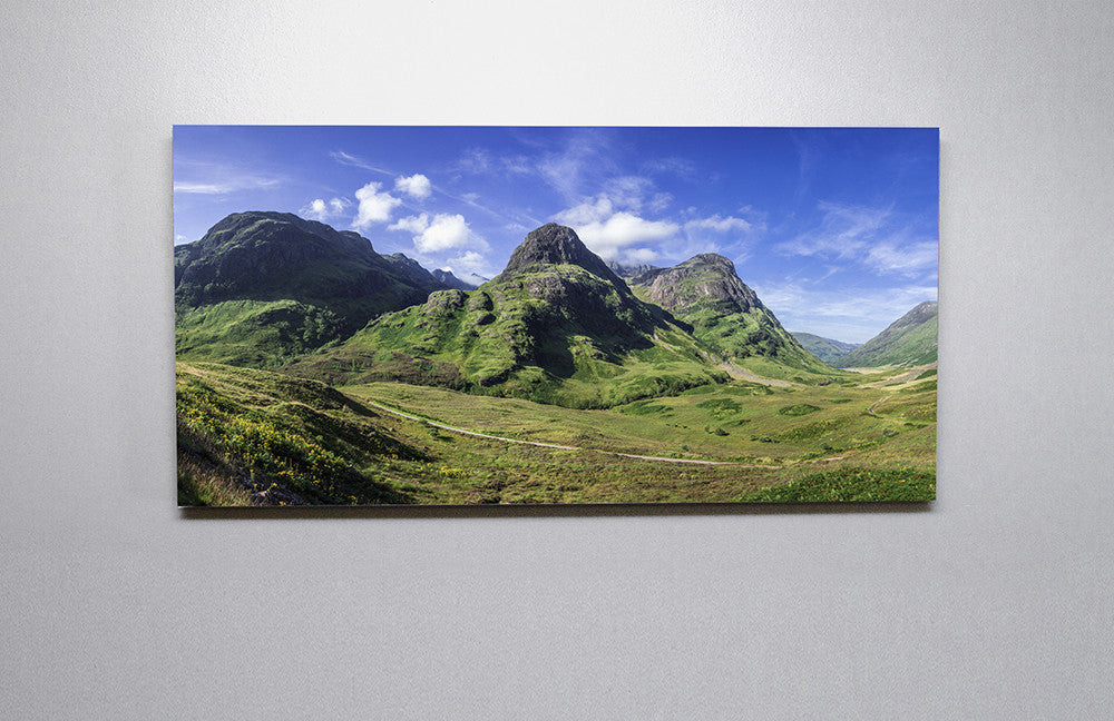Glencoe In the Summer Sun Canvas Wall Print Custom T Shirt by Lets Get Shirty Dot Com