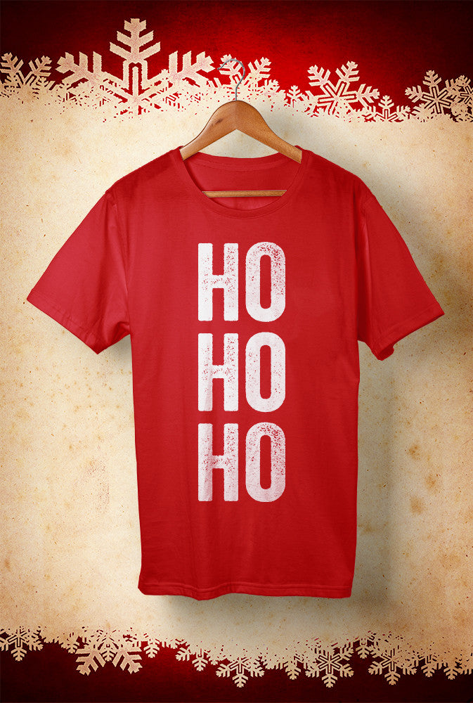 Ho Ho Ho ! Trainee Santas! <p> Unisex Gildan T Shirt In Red Custom T Shirt by Lets Get Shirty Dot Com