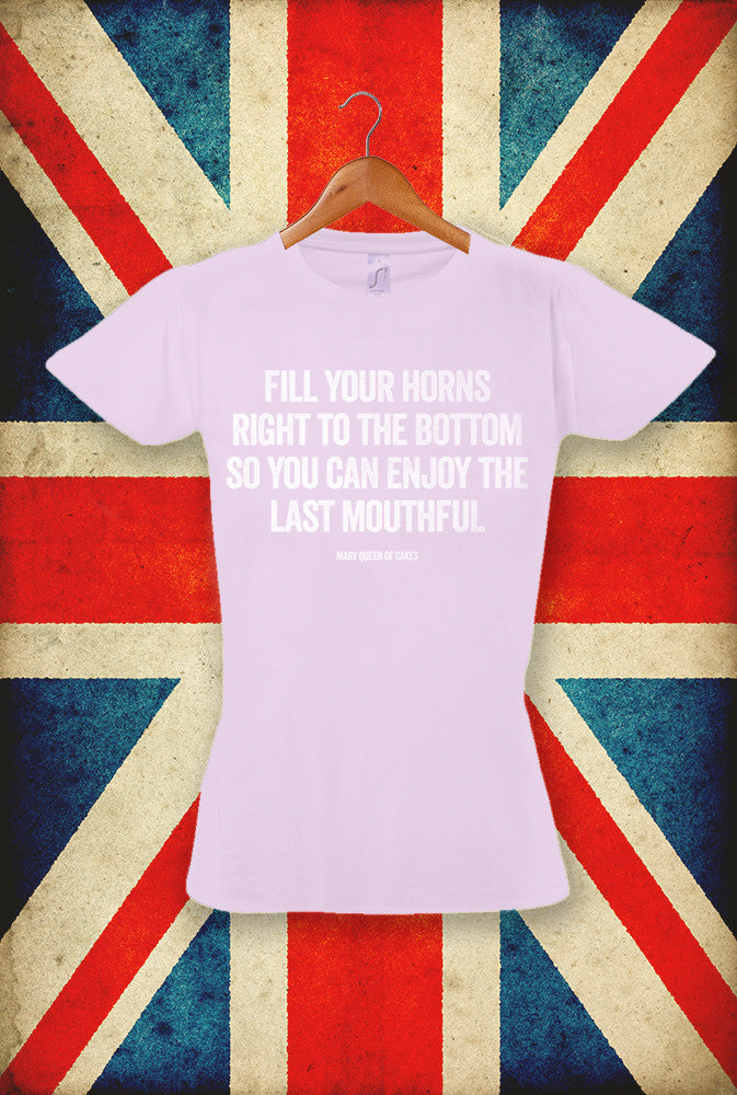 Fill Your Horns <p> Sol's Ladies Imperial T Shirt in 5 Pastel Shades Custom T Shirt by Lets Get Shirty Dot Com