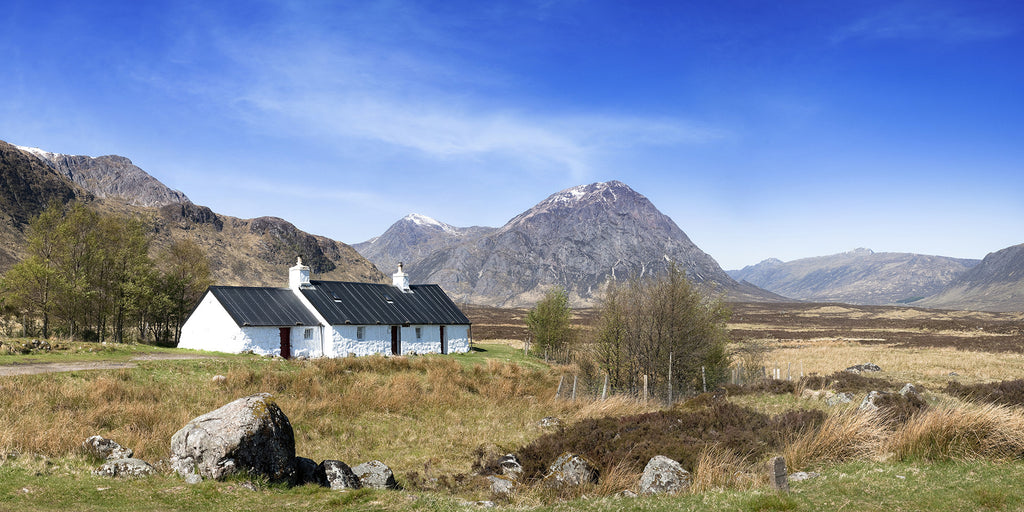 Blackrock Cottage Glencoe Canvas Wall Print Custom T Shirt by Lets Get Shirty Dot Com