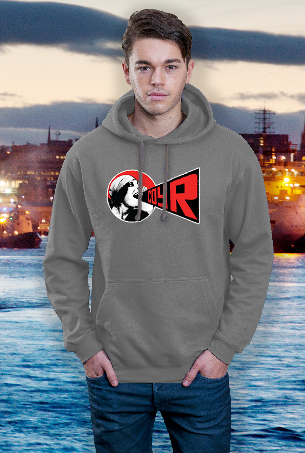ABERDEEN RED ARMY HOODY ::  COYR SHOUT ! <p> In Black Red or Grey
