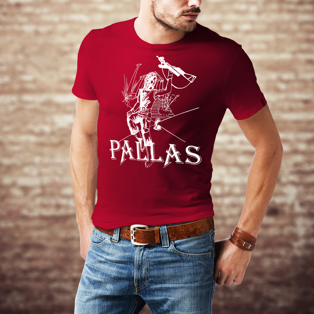 PALLAS ORIGINAL EP T SHIRT <p>Unisex Gildan T Shirt In Black, White, Purple, Red and Navy Custom T Shirt by Lets Get Shirty Dot Com