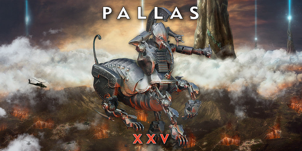 Pallas XXV artwork 'WideScreen' Wall Canvas Custom T Shirt by Lets Get Shirty Dot Com