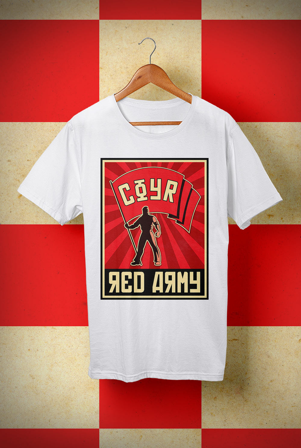 ABERDEEN RED ARMY T SHIRT ::  COYR BANNER ! <p> Unisex Gildan T Shirt In a Range of 10 colours Custom T Shirt by Lets Get Shirty Dot Com