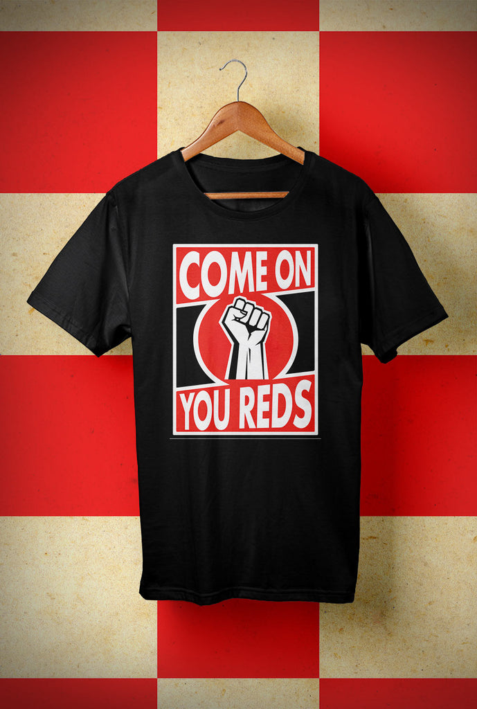 ABERDEEN RED ARMY T SHIRT ::  COME ON <p> Unisex Gildan T Shirt In a Range of colours Custom T Shirt by Lets Get Shirty Dot Com