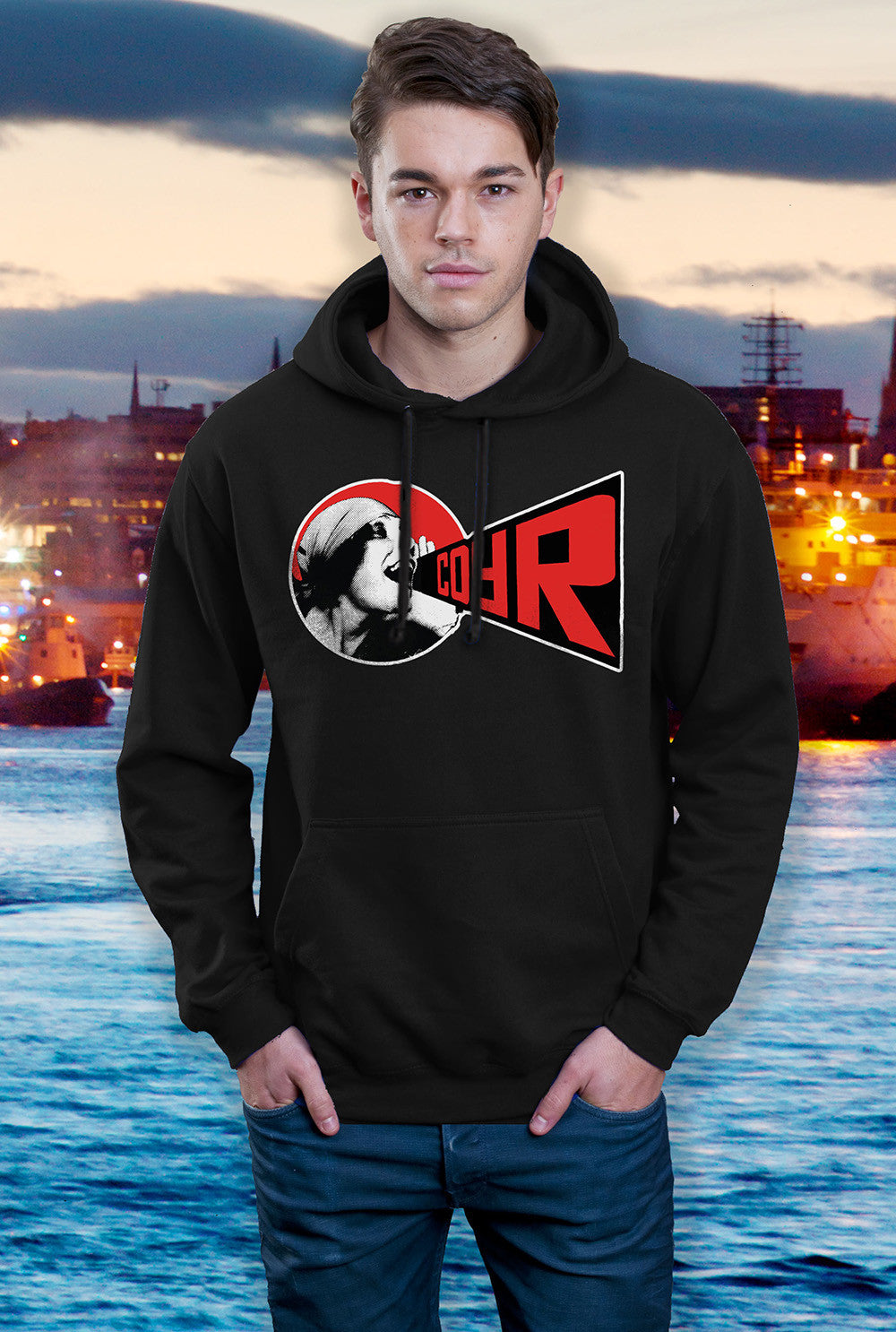 ABERDEEN RED ARMY HOODY ::  COYR SHOUT ! <p> In Black Red or Grey Custom T Shirt by Lets Get Shirty Dot Com