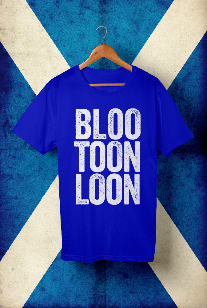 Bloo Toon Loon <p> Unisex Gildan T Shirt In Blue Custom T Shirt by Lets Get Shirty Dot Com