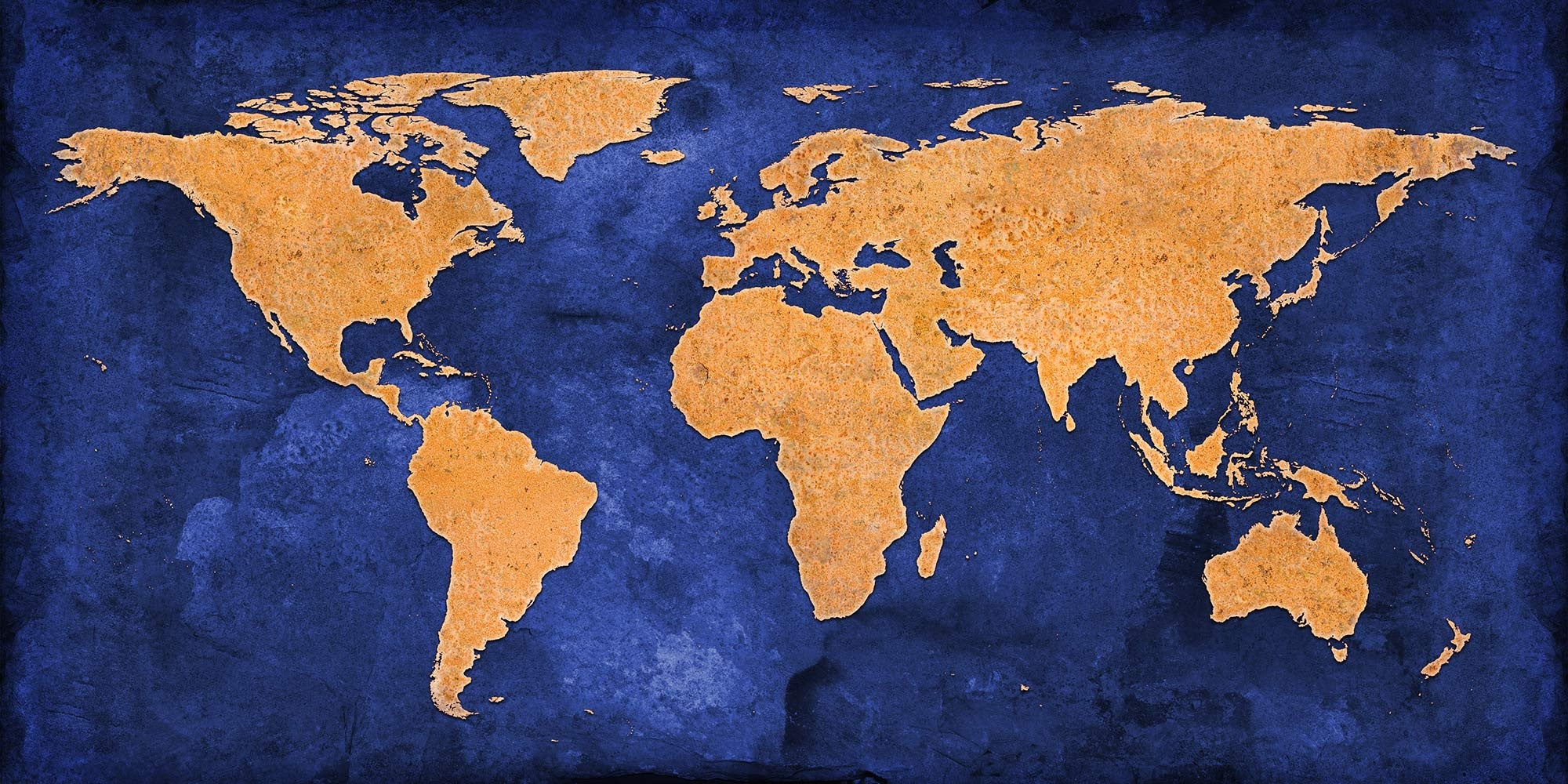 Blue and gold grunge world map canvas wall print lets get shirty blue and gold grunge world map canvas wall print custom t shirt by lets get shirty gumiabroncs Images