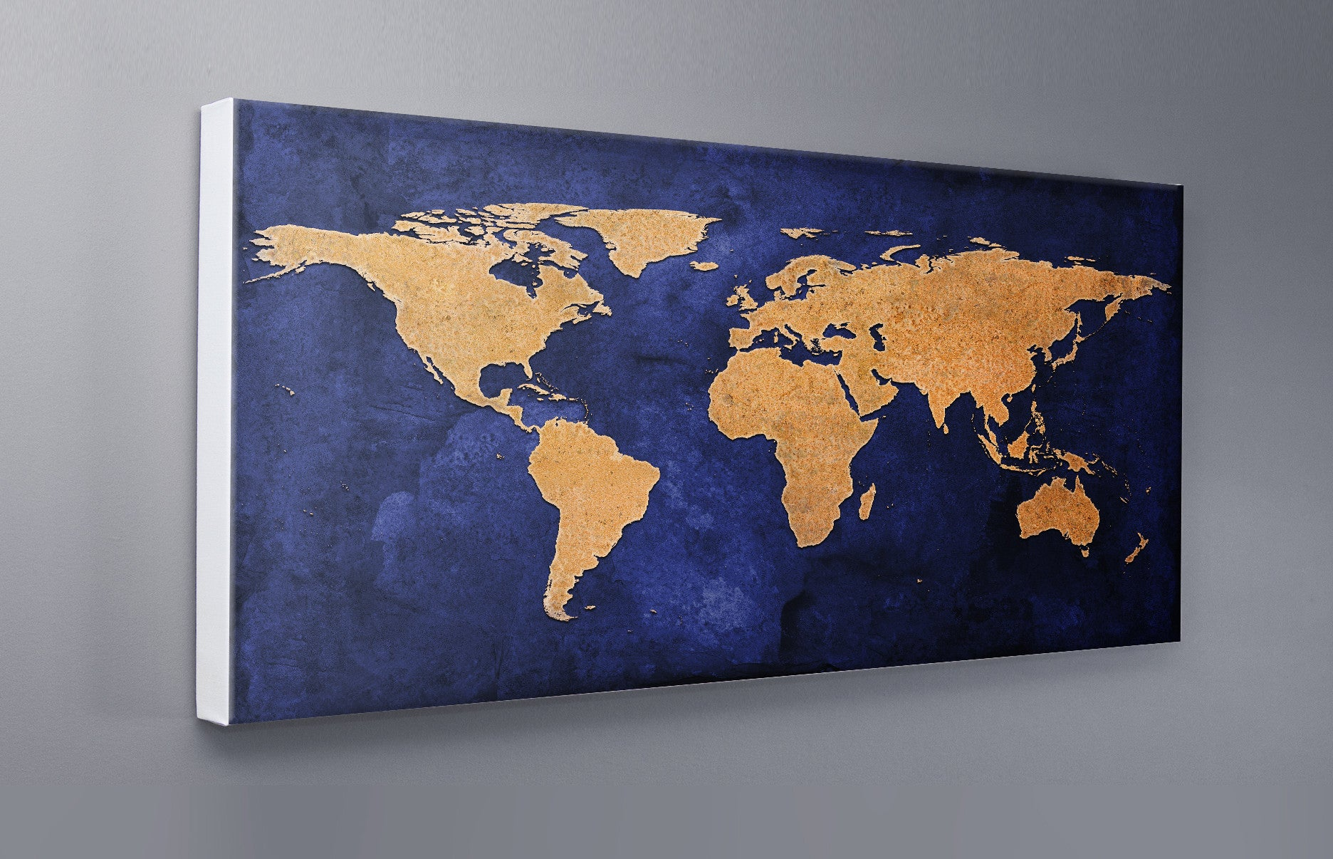Blue and gold grunge world map canvas wall print lets get shirty blue and gold grunge world map canvas wall print custom t shirt by lets get shirty gumiabroncs Choice Image