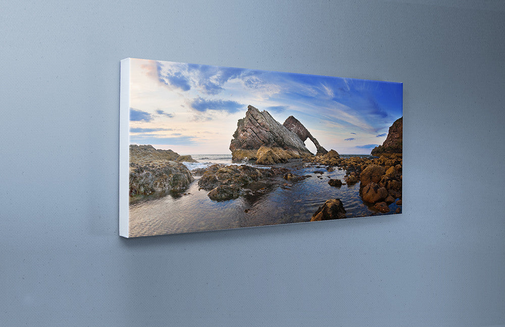 Bowfiddle Rock Canvas Wall Print Custom T Shirt by Lets Get Shirty Dot Com