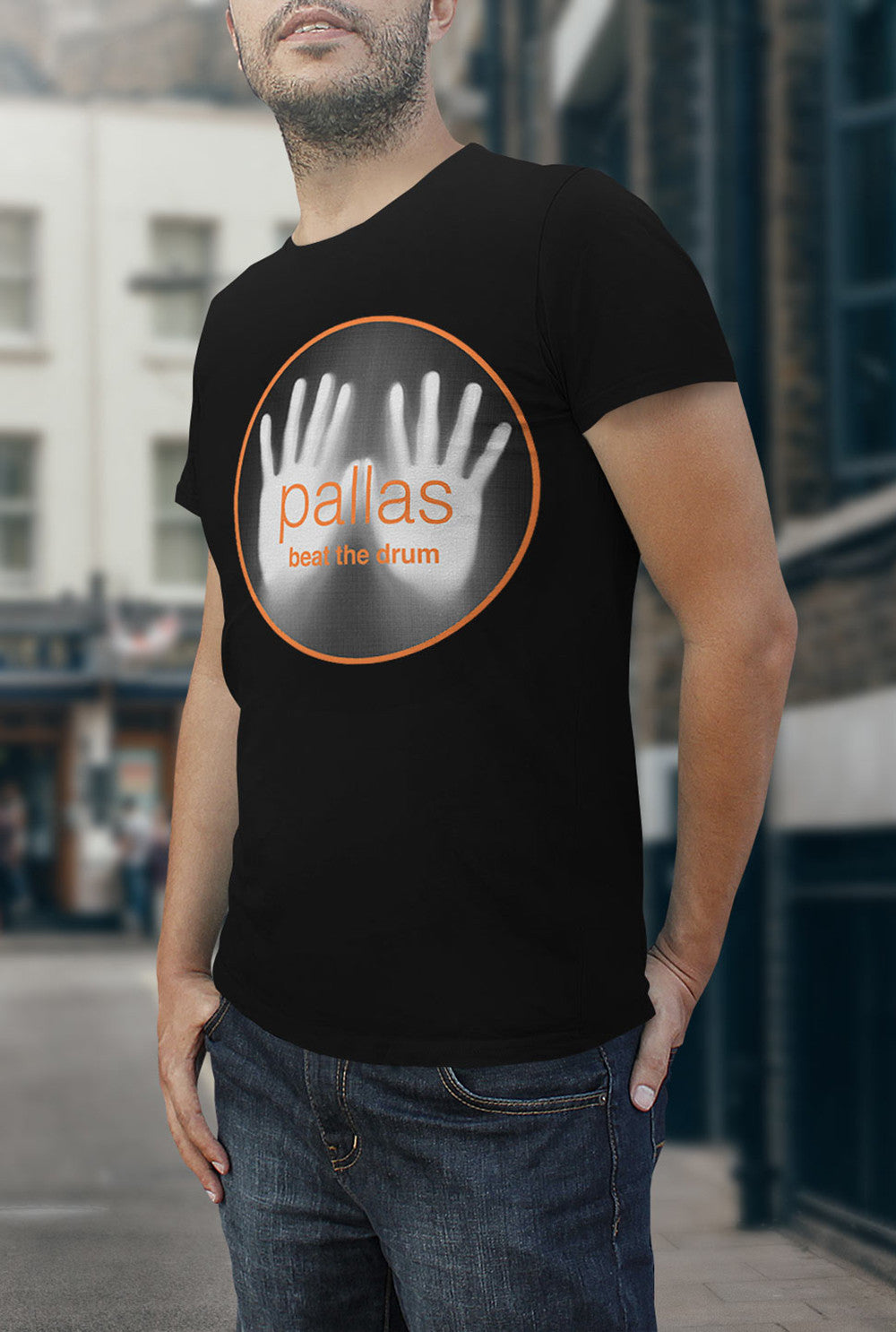 Pallas Beat the Drum <p> Unisex Gildan T Shirt In a Range of 12 colours Custom T Shirt by Lets Get Shirty Dot Com