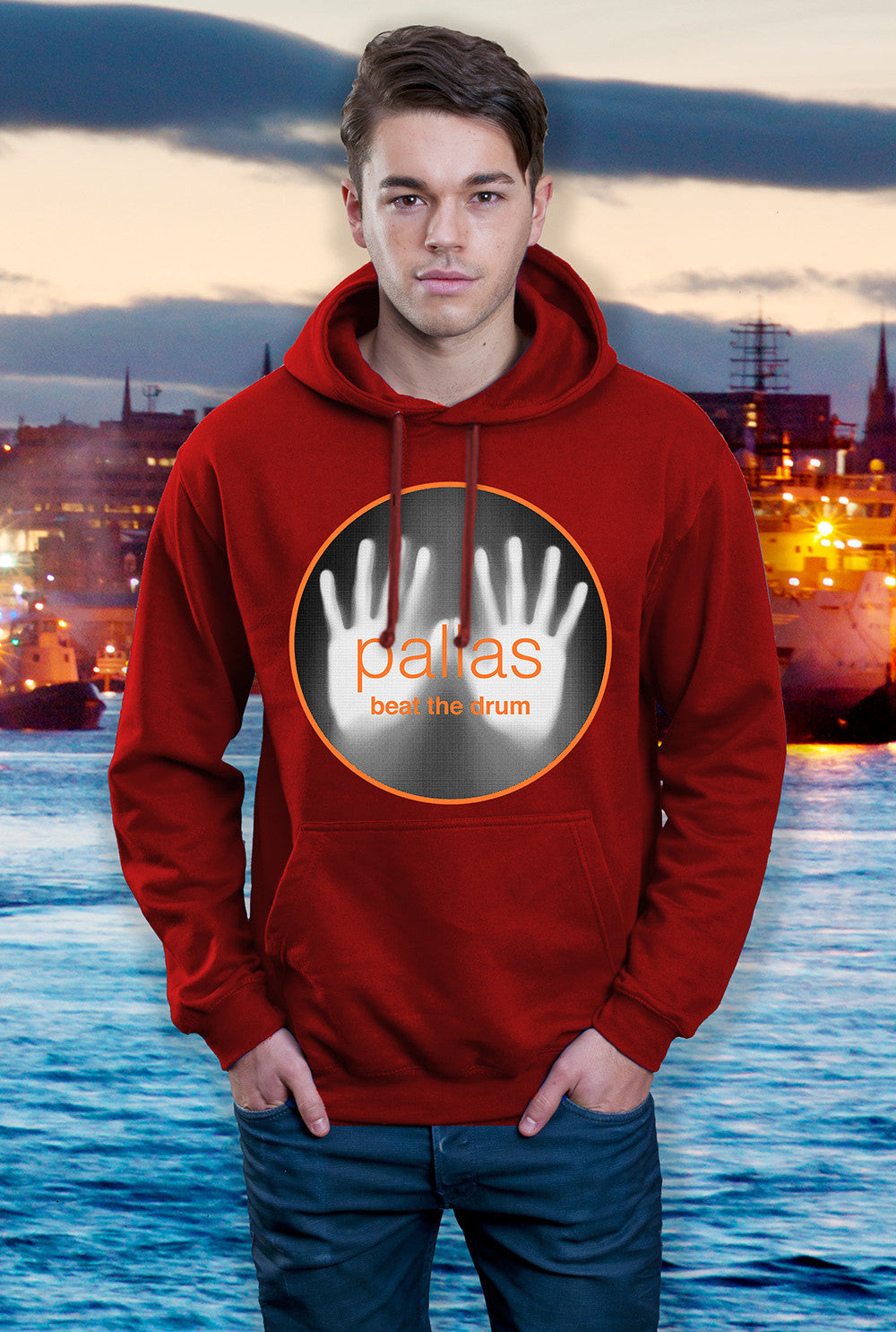 Pallas Hoody ::  Beat the Drum <p> In Black, Red and Grey