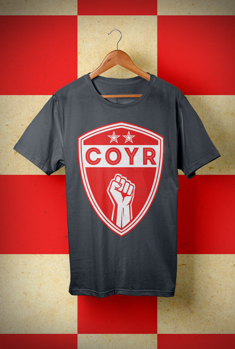 ABERDEEN RED ARMY T SHIRT ::  COYR SHIELD <p> Unisex Gildan T Shirt In a Range of colours