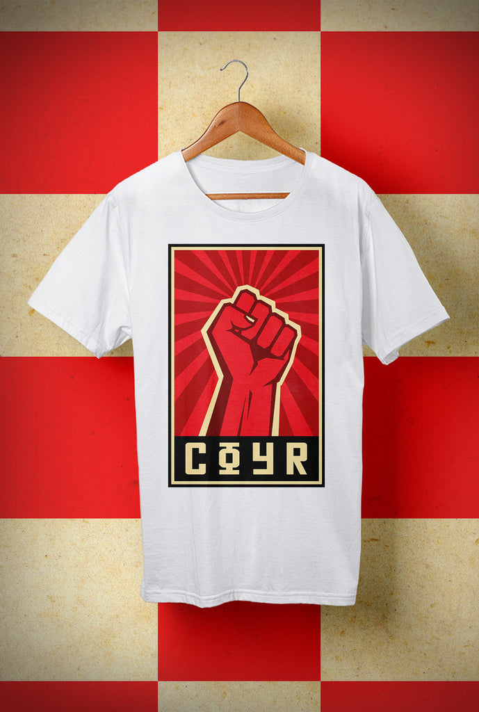 ABERDEEN RED ARMY T SHIRT ::  COYR SALUTE ! <p> Unisex Gildan T Shirt In a Range of 10 colours Custom T Shirt by Lets Get Shirty Dot Com
