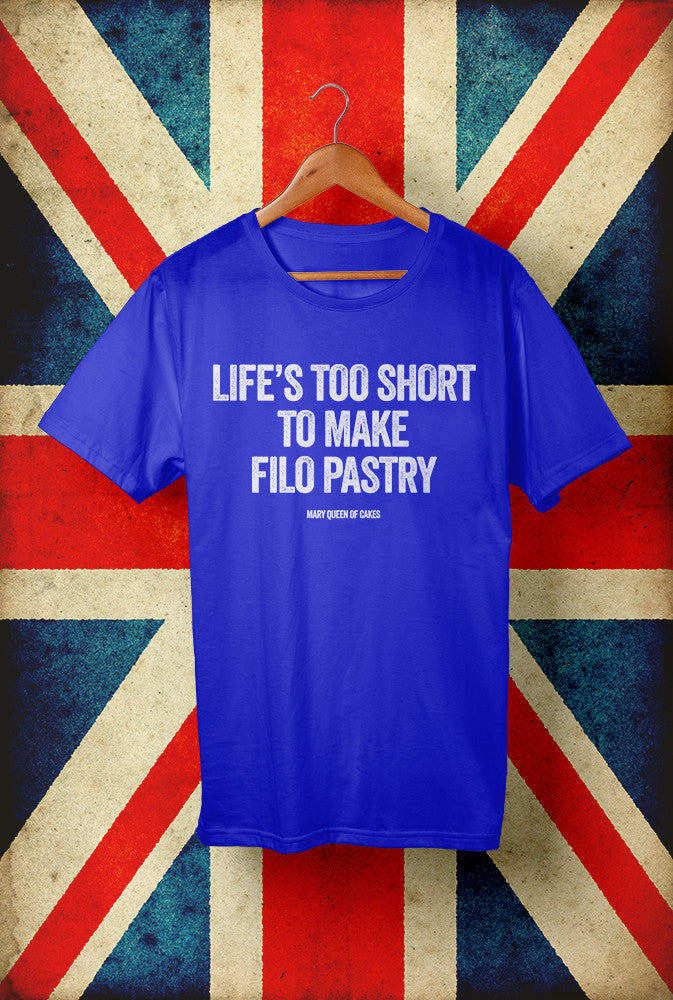 Life's Too Short For Filo<p> Unisex Gildan T Shirt In Red White Or Blue Custom T Shirt by Lets Get Shirty Dot Com