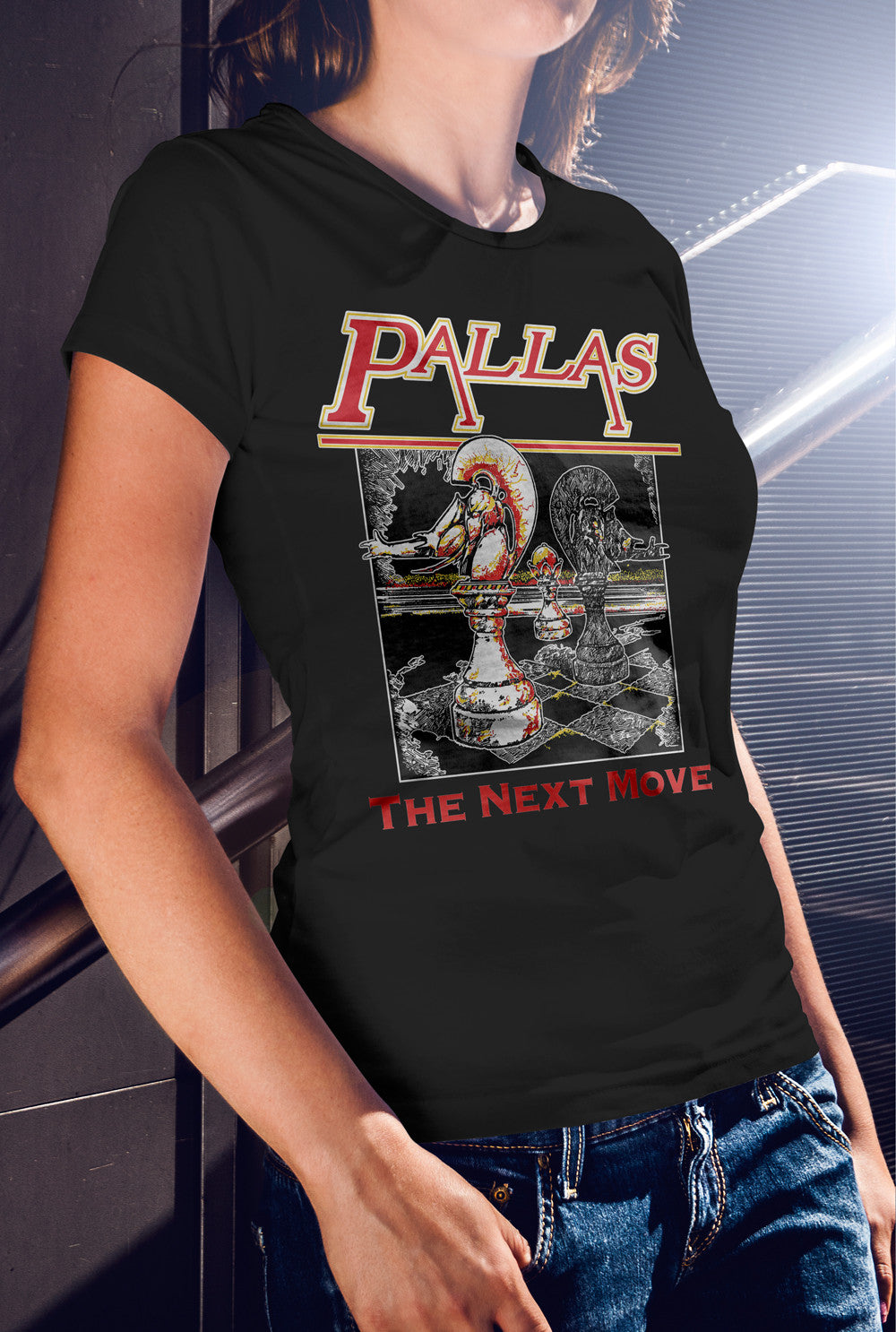 Pallas The Next Move Women's fitted T-shirt<p> In 8 Colours Custom T Shirt by Lets Get Shirty Dot Com