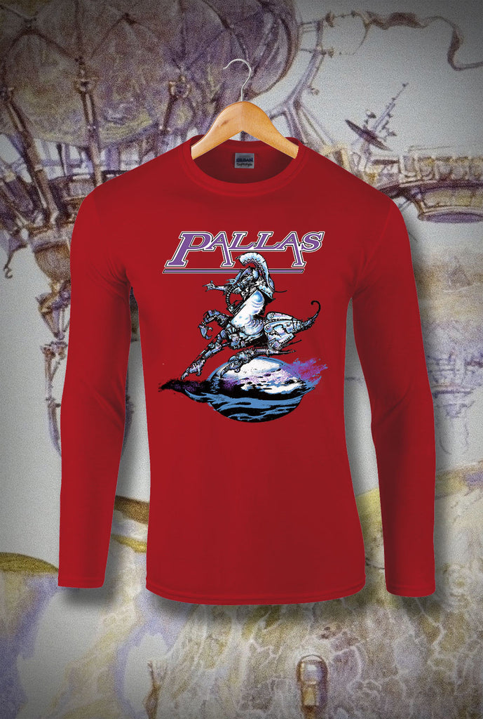 Pallas The Sentinel Long Sleeve T-Shirt<p> In Black, White, Red and Navy Custom T Shirt by Lets Get Shirty Dot Com