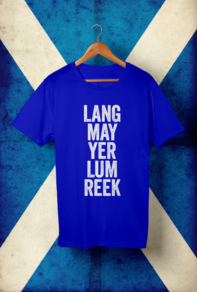 Lang May Your Lum Reek <p> Unisex Gildan T Shirt In Red White Or Blue Custom T Shirt by Lets Get Shirty Dot Com