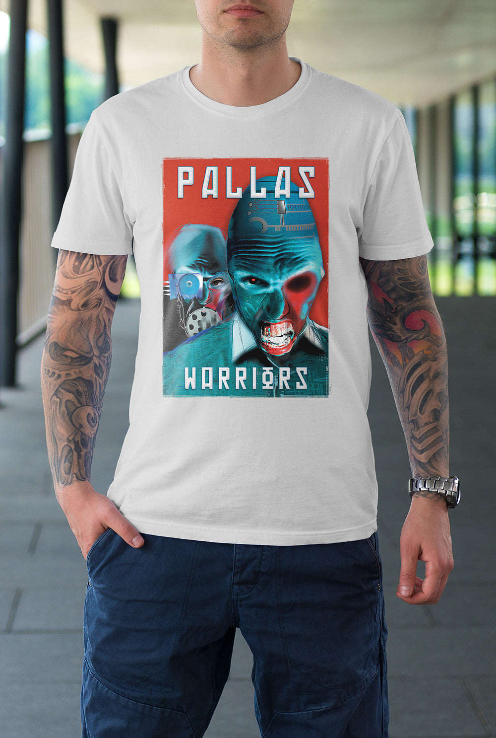 "Pallas :: The Dreams Of Men ""Warriors"" <p> Unisex Gildan T Shirt In a Range of 12 colours Custom T Shirt by Lets Get Shirty Dot Com"