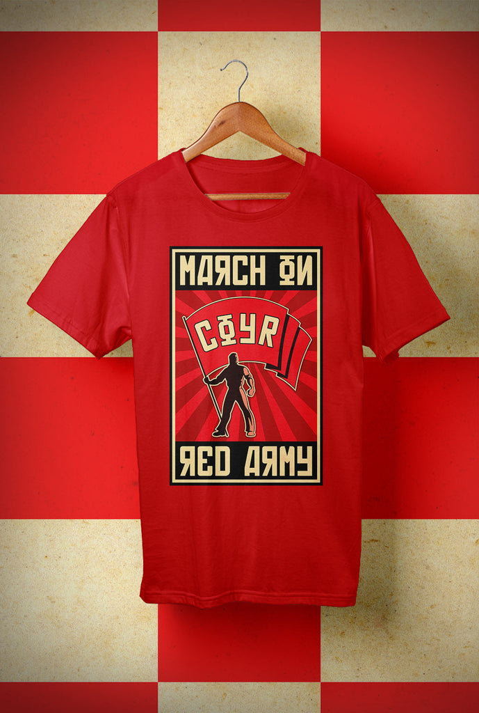 ABERDEEN RED ARMY T SHIRT ::  MARCH ON ! <p> Unisex Gildan T Shirt In a Range of 10 colours Custom T Shirt by Lets Get Shirty Dot Com