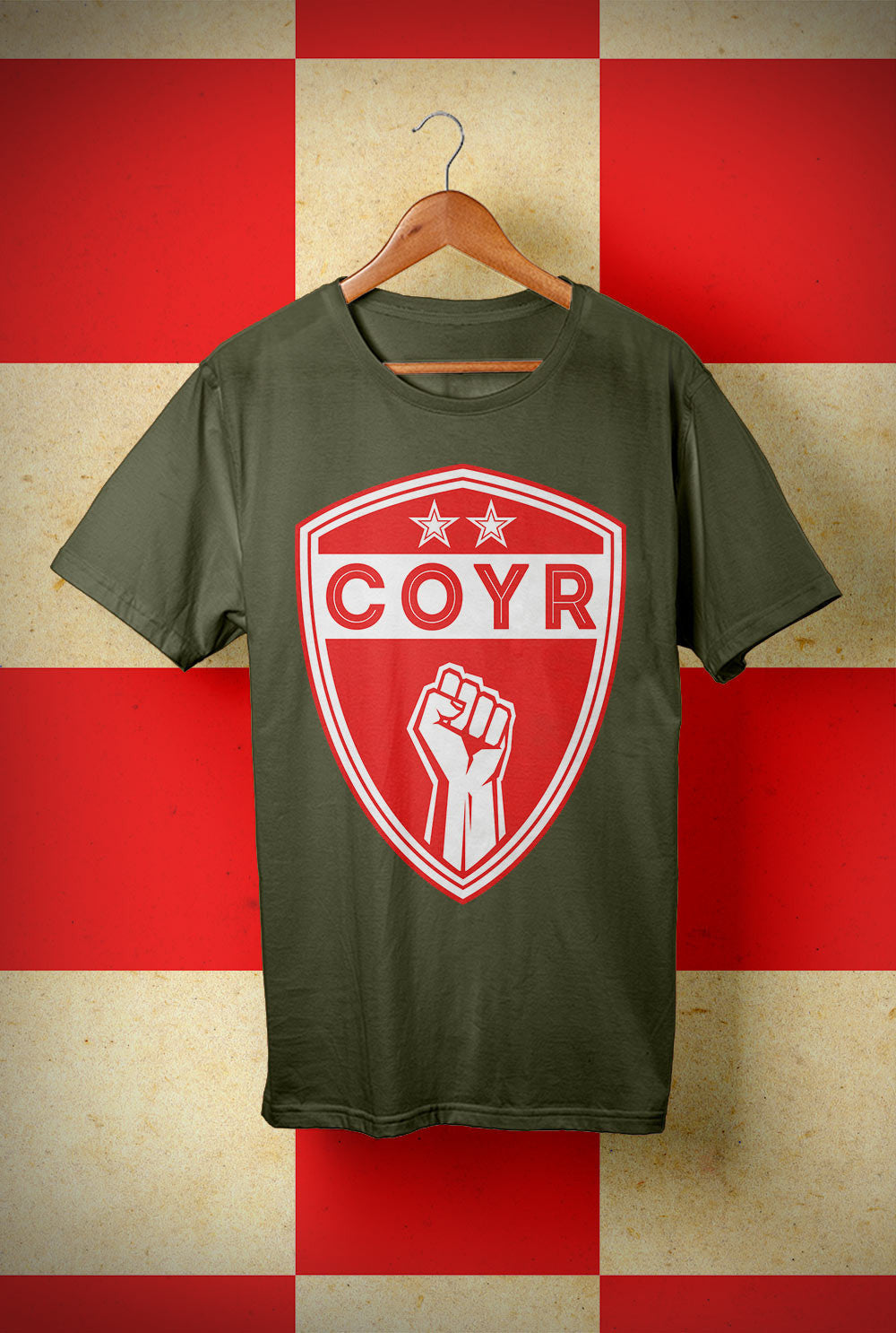 ABERDEEN RED ARMY T SHIRT ::  COYR SHIELD <p> Unisex Gildan T Shirt In a Range of colours Custom T Shirt by Lets Get Shirty Dot Com