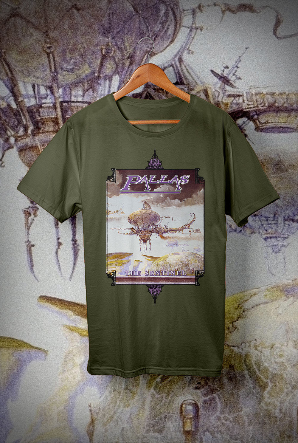 Pallas The Sentinel Flying Machine <p> Unisex Gildan T Shirt In a Range of 12 colours Custom T Shirt by Lets Get Shirty Dot Com