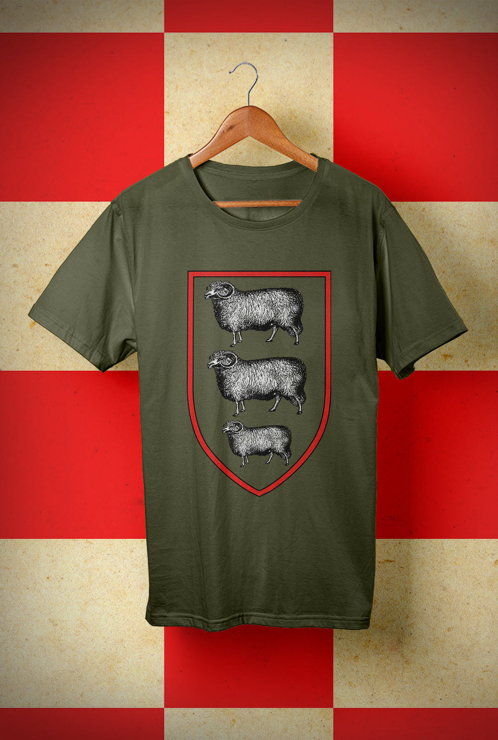 ABERDEEN RED ARMY T SHIRT :: THREE SHEEP ON YOUR CHEST  <p> Unisex Gildan T Shirt In a Range of 10 colours