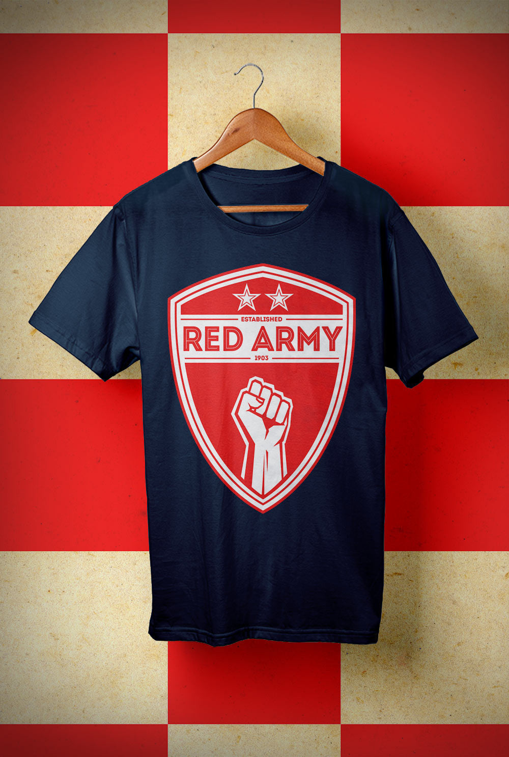 ABERDEEN RED ARMY T SHIRT ::  RED ARMY SHIELD <p> Unisex Gildan T Shirt In a Range of colours Custom T Shirt by Lets Get Shirty Dot Com