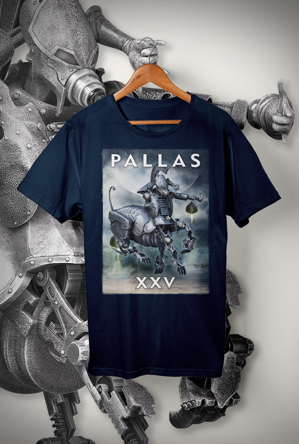 "Pallas :: XXV ""Violet Sky""<p> Unisex Gildan T Shirt In a Range of 12 colours Custom T Shirt by Lets Get Shirty Dot Com"