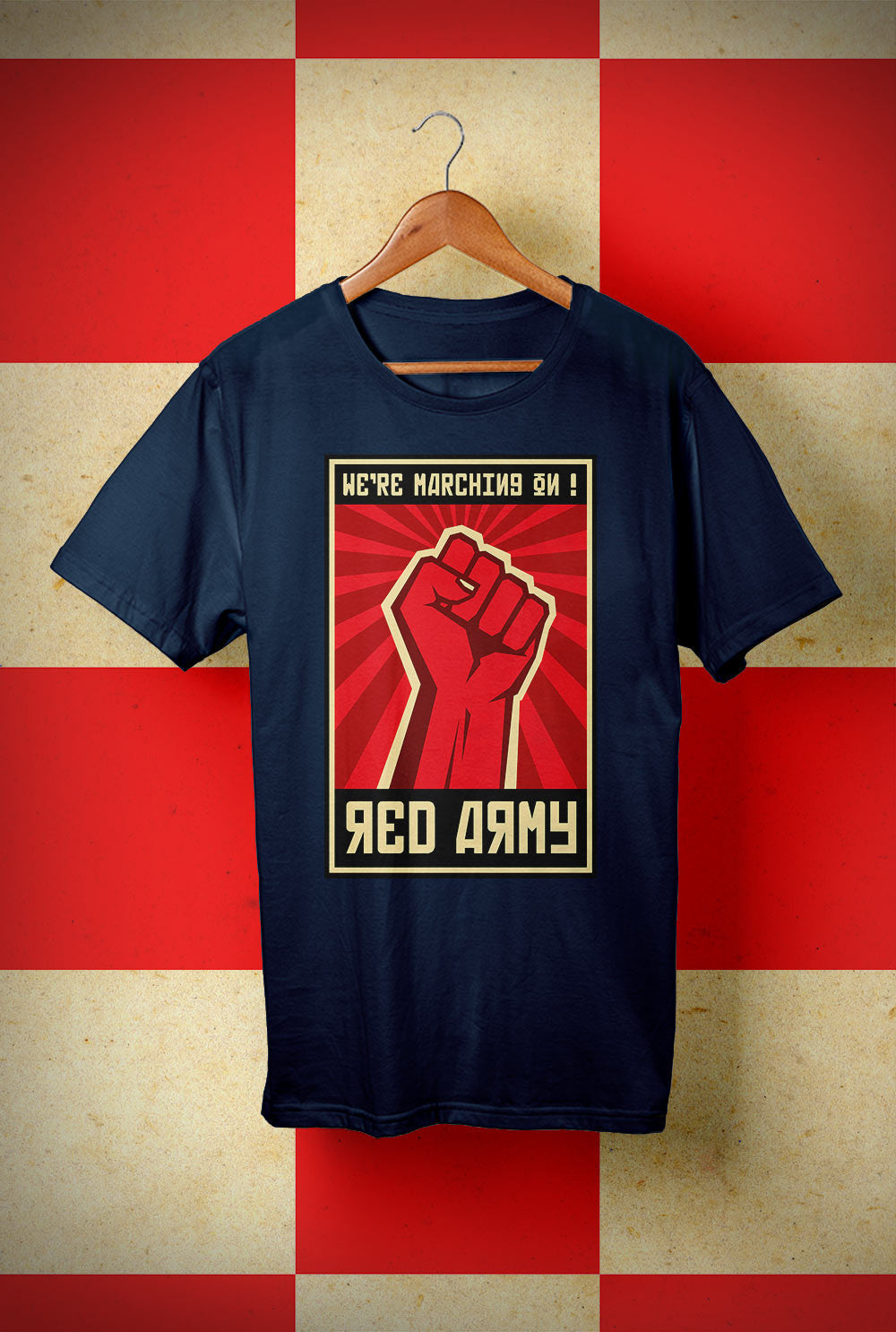 ABERDEEN RED ARMY T SHIRT ::  SALUTE MARCHING ON ! <p> Unisex Gildan T Shirt In a Range of 10 colours