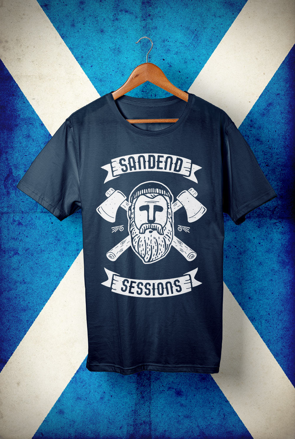 Sandend Sessions - Woodsman  <p> Unisex Gildan T Shirt In a Range of colours Custom T Shirt by Lets Get Shirty Dot Com