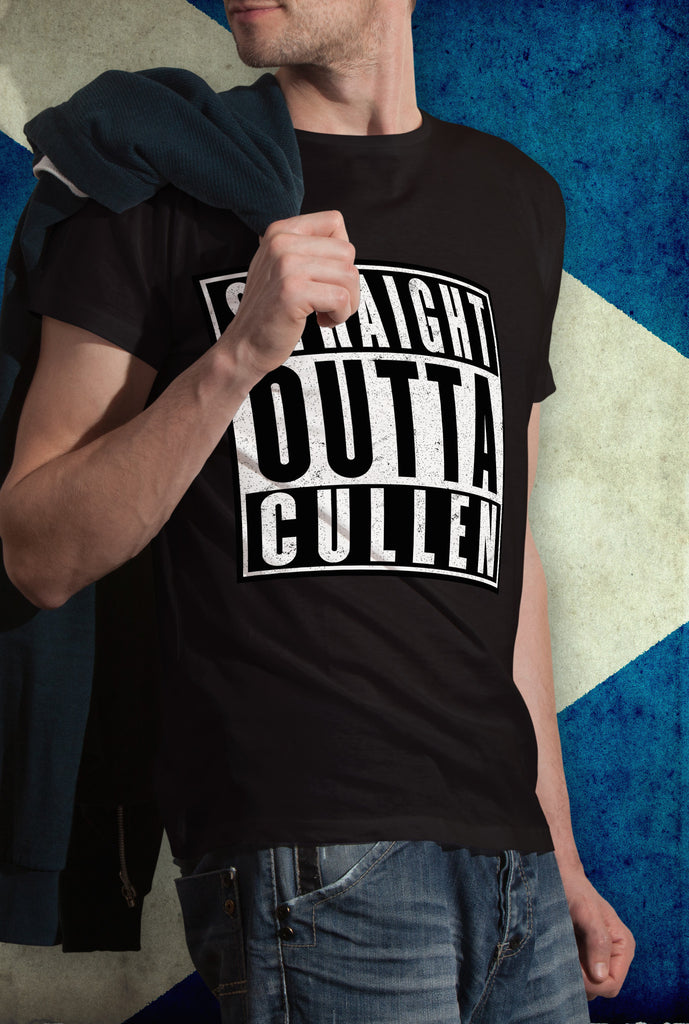 STRAIGHT OUTTA CULLEN !<p> Unisex Gildan T Shirt In Red White Or Black