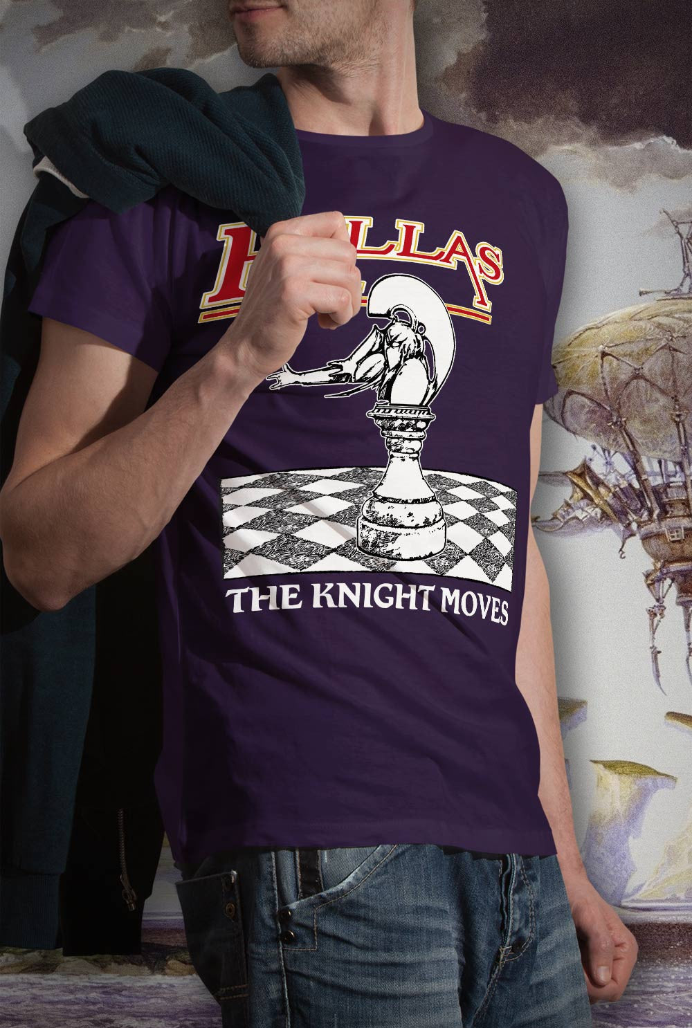 Pallas The Knight Moves <p> Unisex Gildan T Shirt In a Range of 12 colours Custom T Shirt by Lets Get Shirty Dot Com