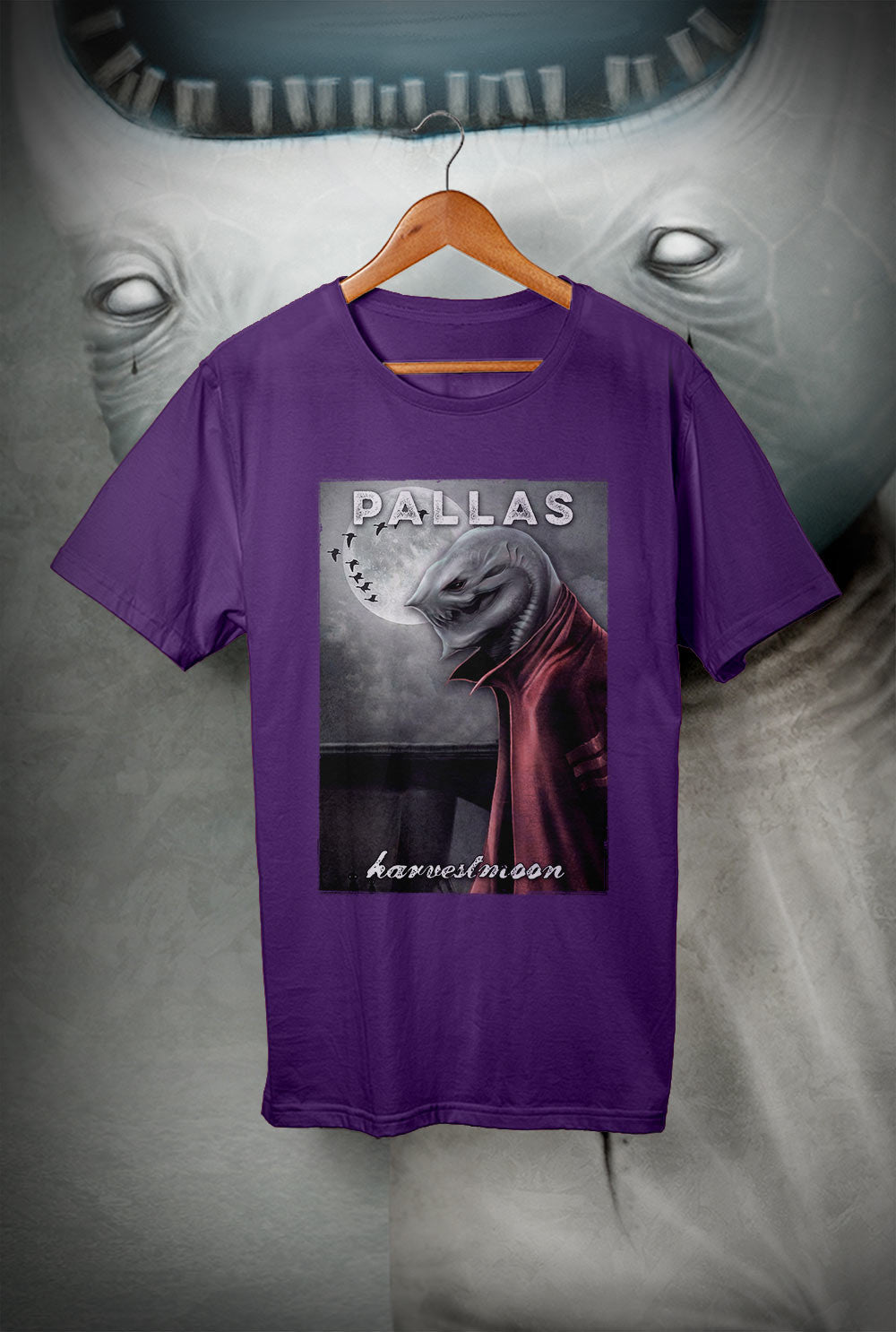 Pallas :: wearewhoweare 'Harvest Moon'<p> Unisex Gildan T Shirt In a Range of 12 colours Custom T Shirt by Lets Get Shirty Dot Com