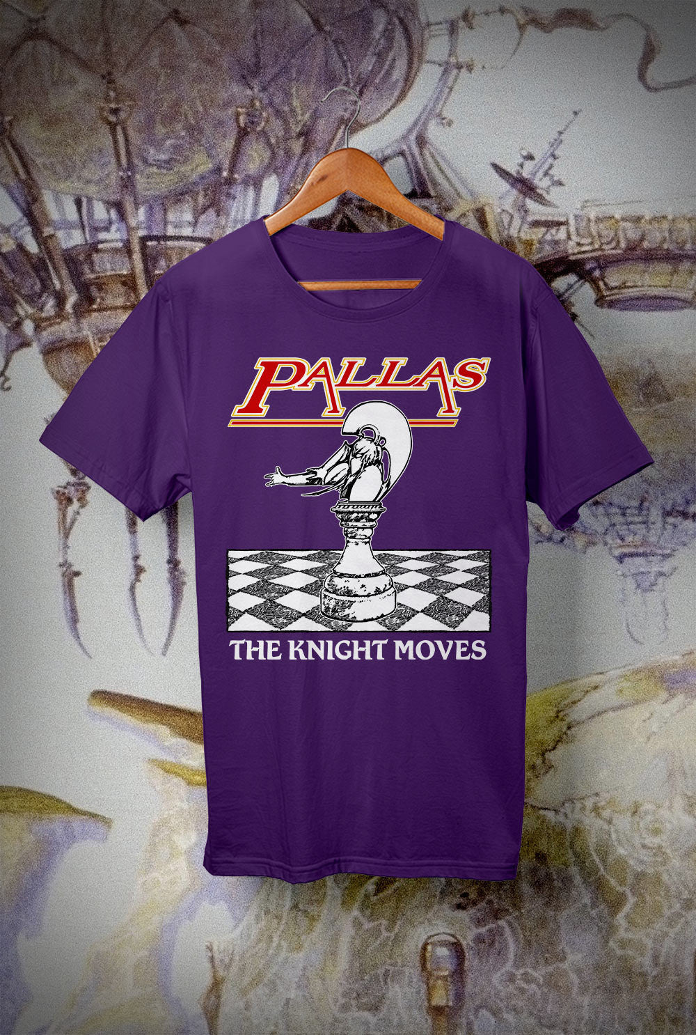 Pallas The Knight Moves Kids T Shirts<p> In Light Blue, Black, White, Red and Purple Custom T Shirt by Lets Get Shirty Dot Com