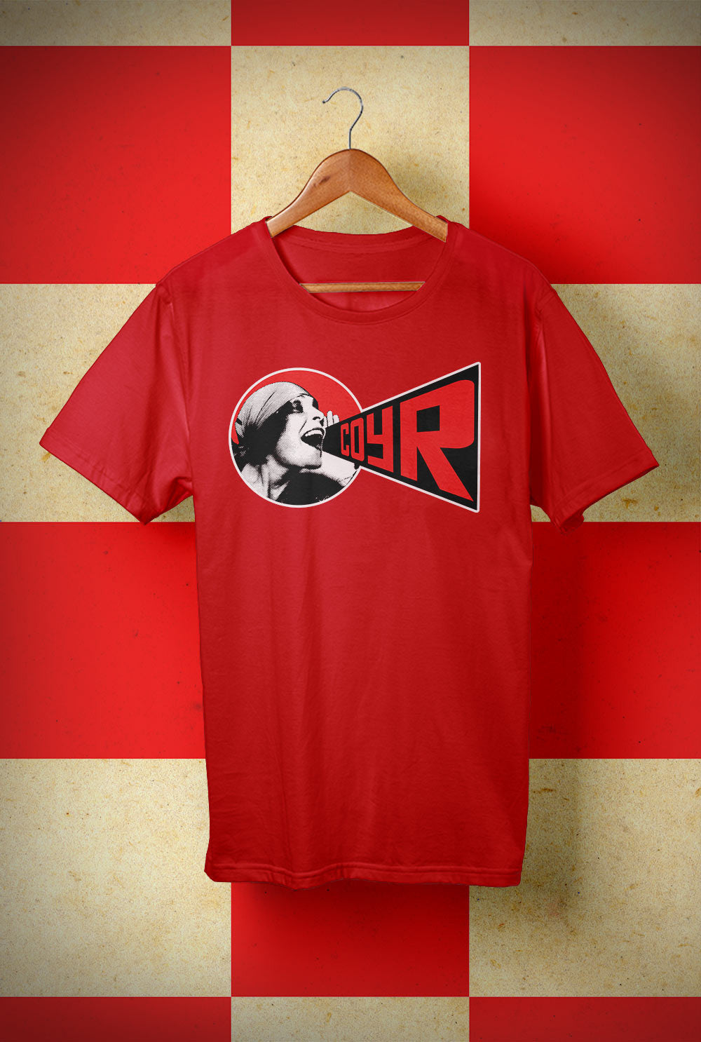ABERDEEN RED ARMY T SHIRT :: COYR SHOUT! <p> Unisex Gildan T Shirt In a Range of colours Custom T Shirt by Lets Get Shirty Dot Com
