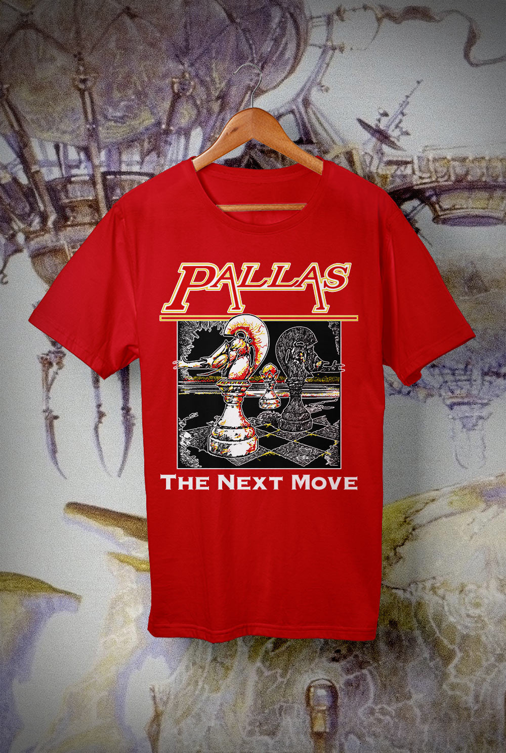 Pallas The Next Move Kids T Shirts<p> In Light Blue, Black, White, Red and Purple Custom T Shirt by Lets Get Shirty Dot Com