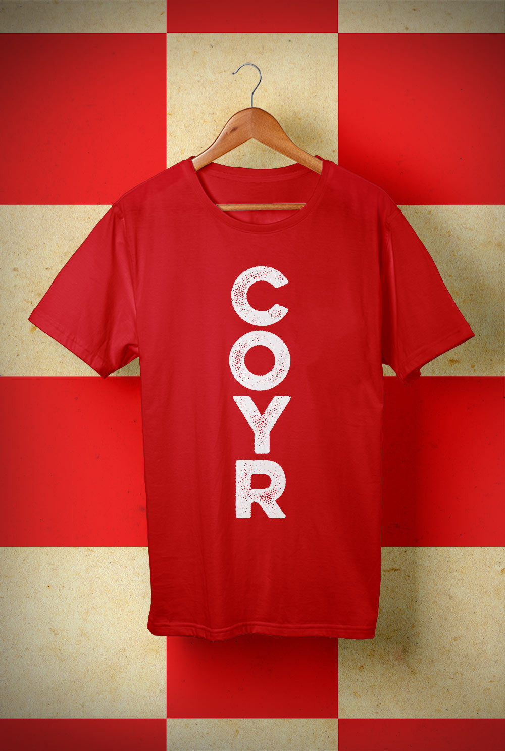 COYR Vertical<p> Unisex Gildan T Shirt In Red Or White Custom T Shirt by Lets Get Shirty Dot Com