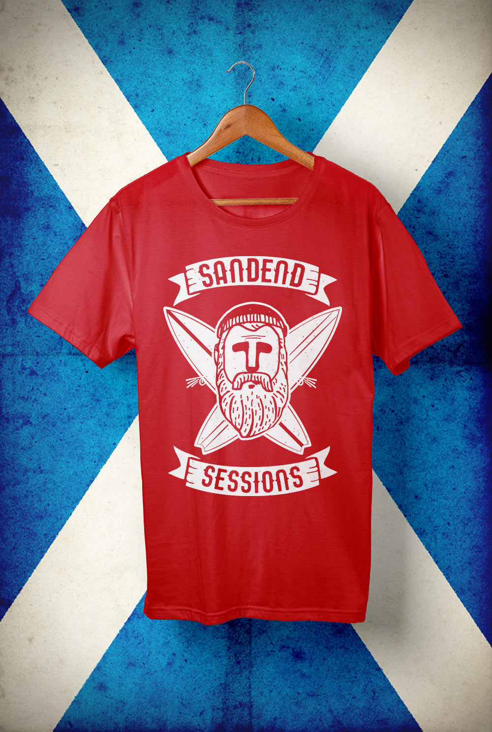 Sandend Sessions  - Surfer  <p> Unisex Gildan T Shirt In a Range of colours Custom T Shirt by Lets Get Shirty Dot Com
