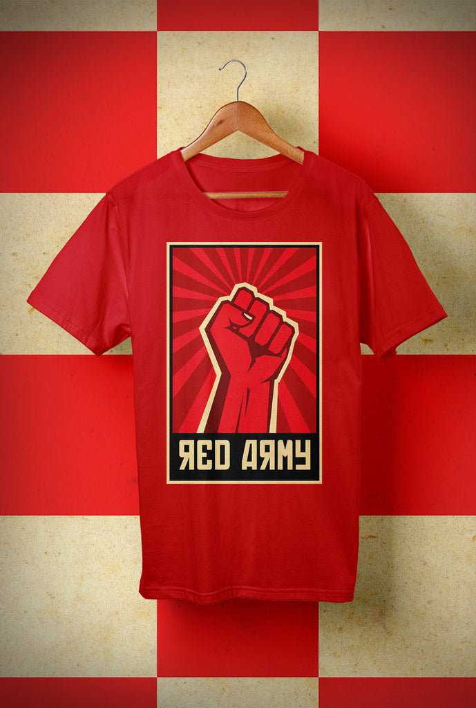 ABERDEEN RED ARMY T SHIRT ::  <p> Unisex Gildan T Shirt In a Range of 10 colours Custom T Shirt by Lets Get Shirty Dot Com