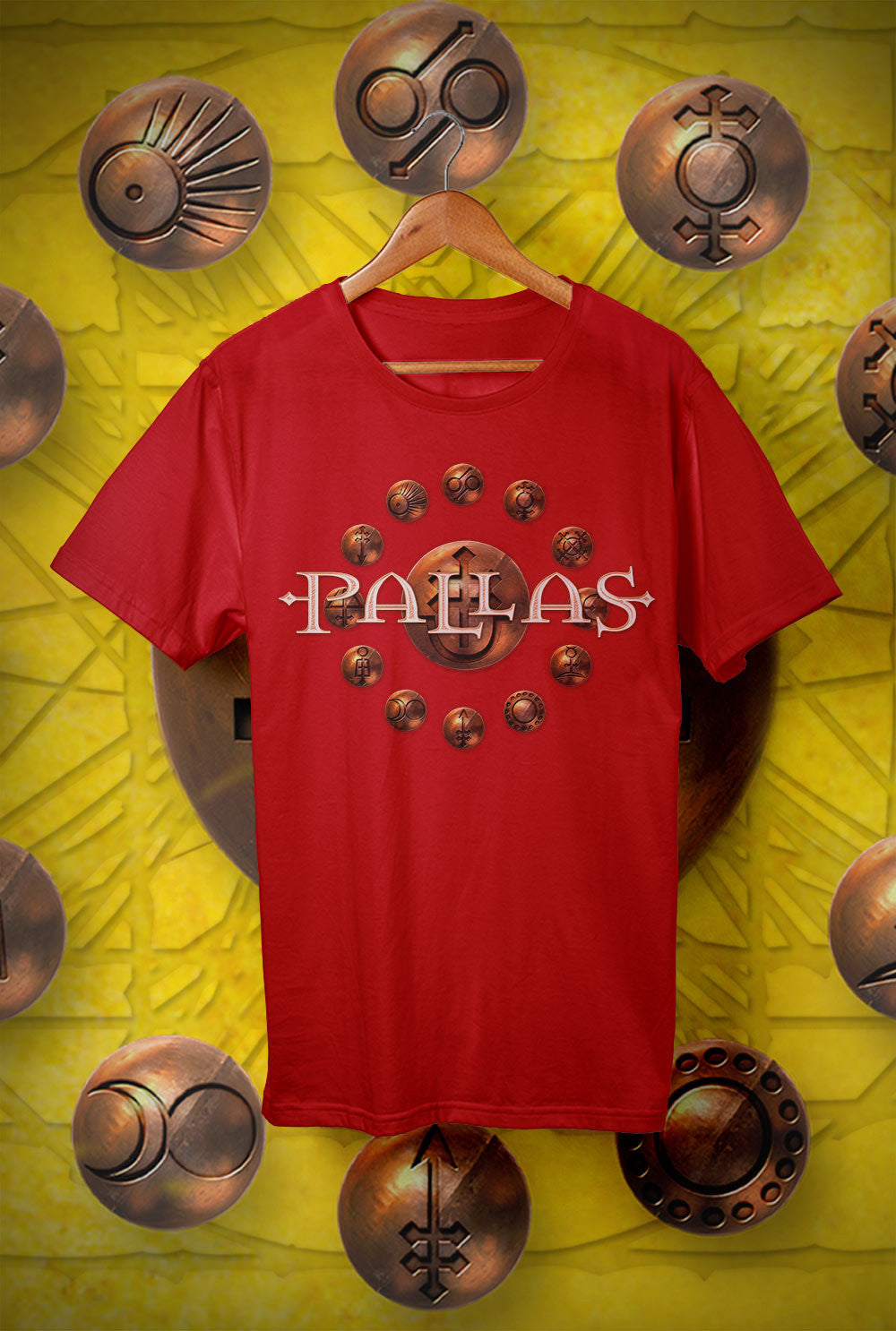 Pallas :: The Cross and The Crucible Tour<p> Unisex Gildan T Shirt In a Range of 12 colours Custom T Shirt by Lets Get Shirty Dot Com