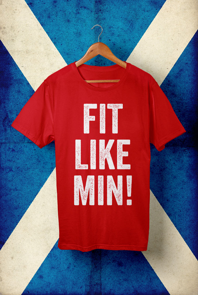 Fit Like Min <p> Unisex Gildan T Shirt In a Range of 10 colours Custom T Shirt by Lets Get Shirty Dot Com