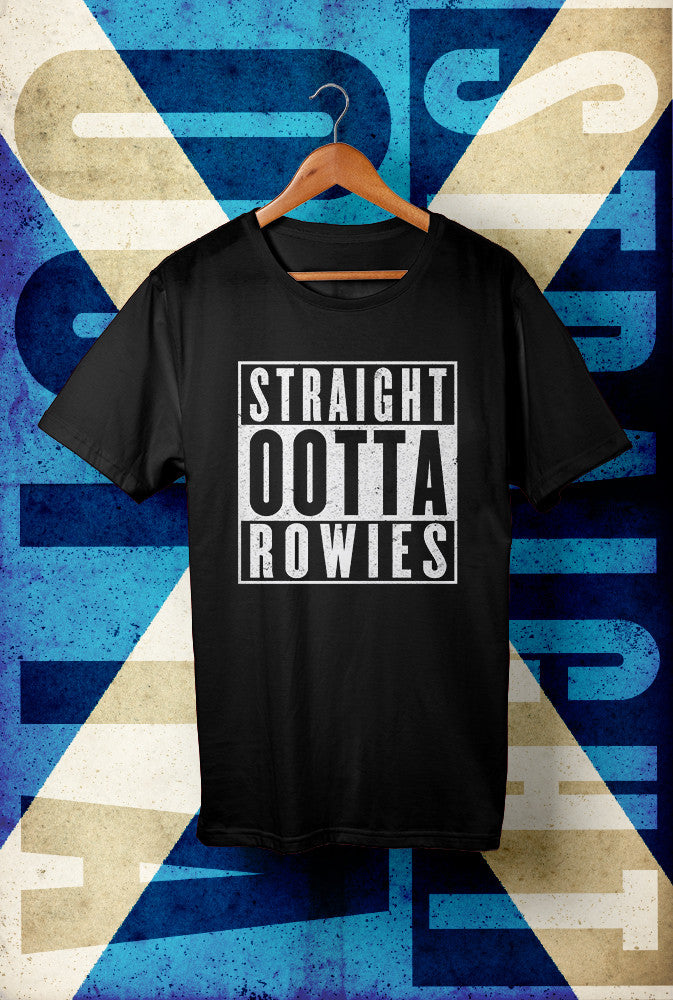 STRAIGHT OOTTA ROWIES <p> Unisex Gildan T Shirt In Red White Or Black Custom T Shirt by Lets Get Shirty Dot Com
