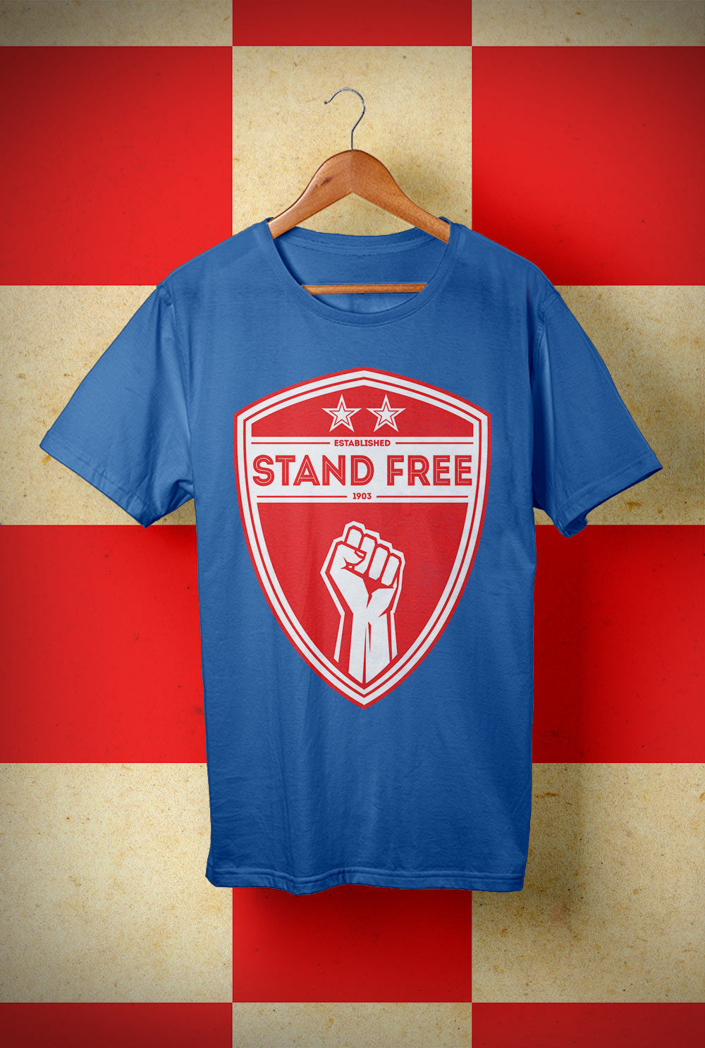 ABERDEEN RED ARMY T SHIRT ::  STAND FREE SHIELD <p> Unisex Gildan T Shirt In a Range of colours
