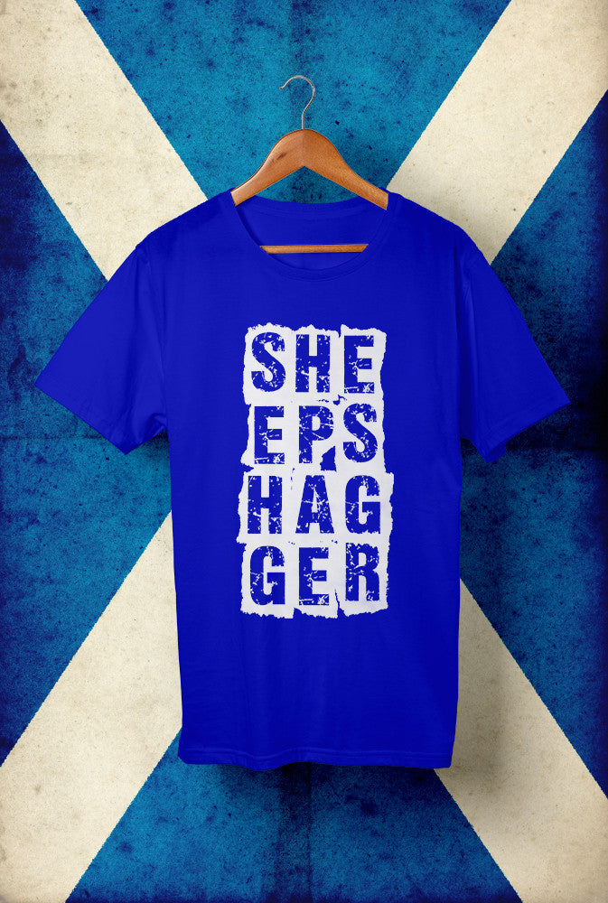 Sheepshagger Design 2 <p> Unisex Gildan T Shirt In Red White Or Blue Custom T Shirt by Lets Get Shirty Dot Com