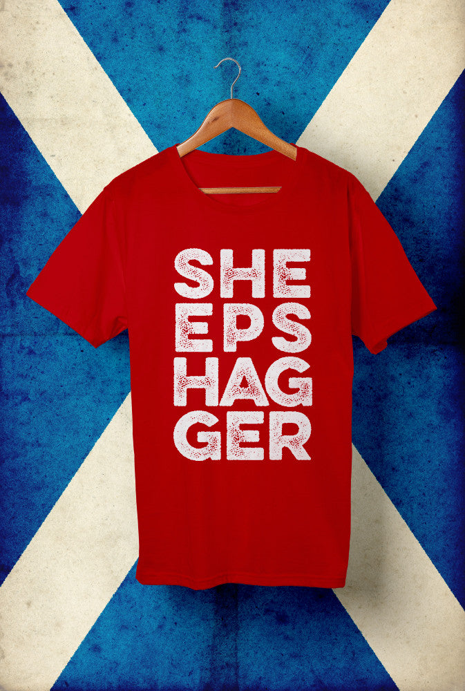 Sheepshagger Design 1 <p> Unisex Gildan T Shirt In Red White Or Blue Custom T Shirt by Lets Get Shirty Dot Com