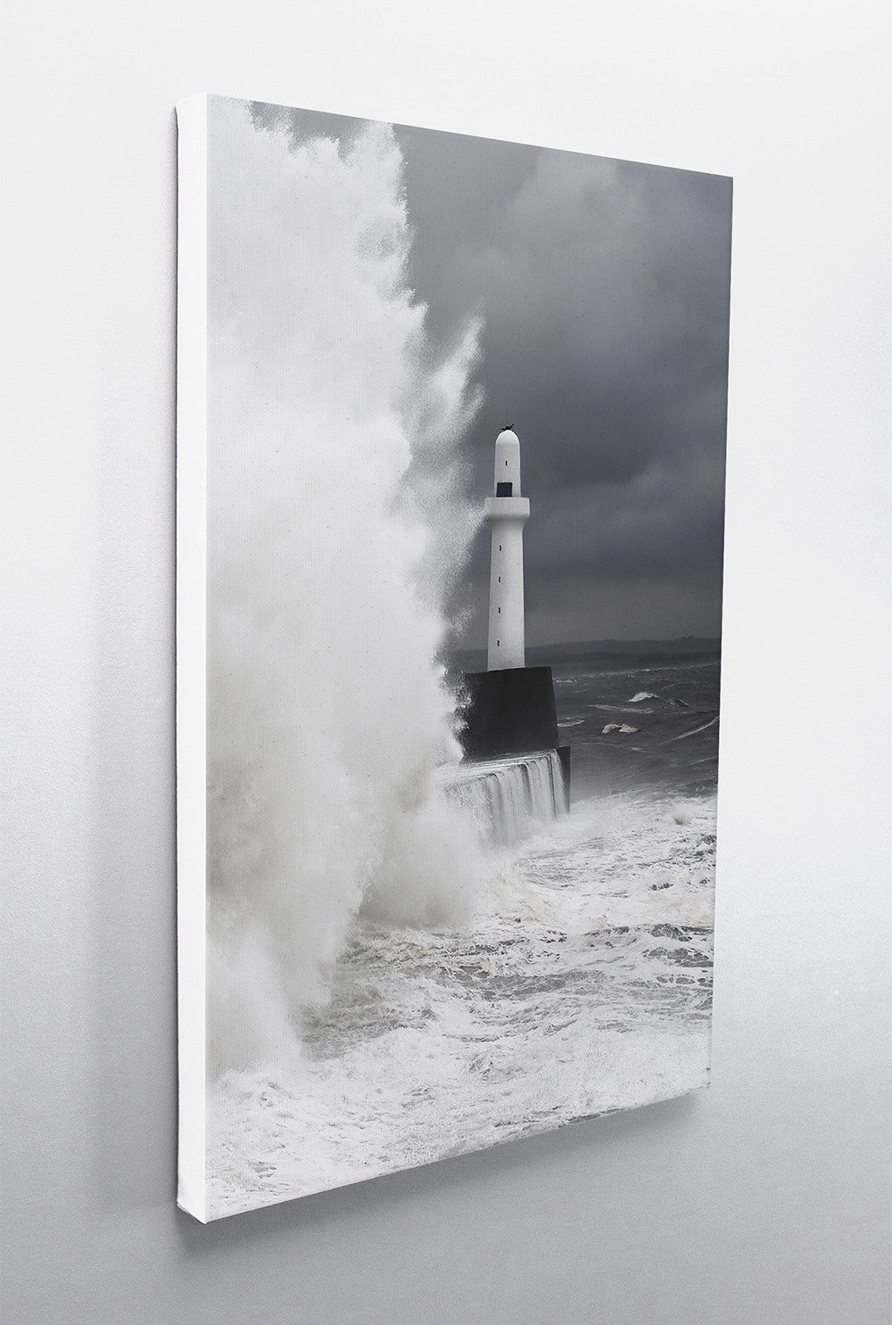 Aberdeen Leading Light in Storm 2 Vertical Wall Canvas Custom T Shirt by Lets Get Shirty Dot Com