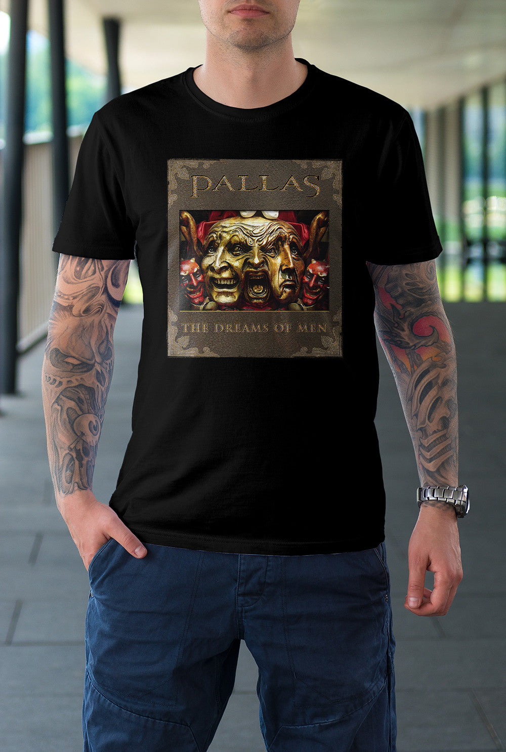 Pallas :: The Dreams Of Men Cover <p> Unisex Gildan T Shirt In a Range of 12 colours Custom T Shirt by Lets Get Shirty Dot Com